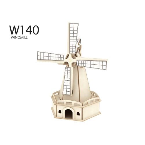 RoboTime - Dřevěná stavebnice - Velký solární větrný mlýn IV