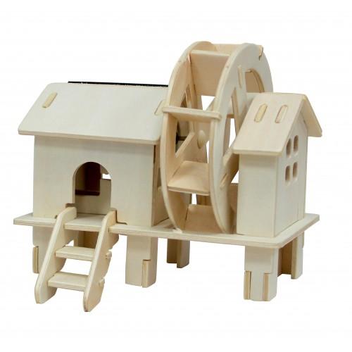 RoboTime - Dřevěná stavebnice - Vodní mlýn