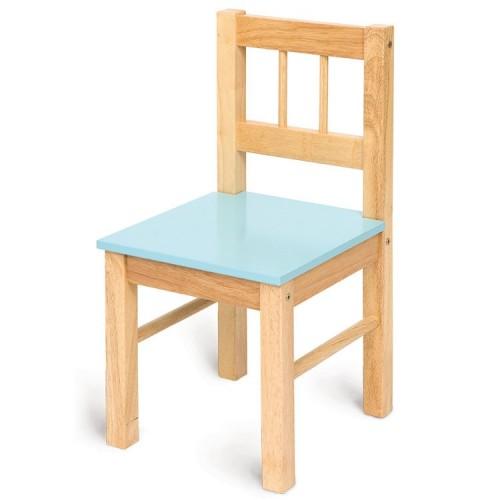 Bigjigs dětská dřevěná židle - modrá