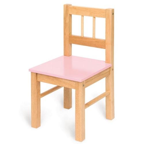 Bigjigs dětská dřevěná židle - růžová