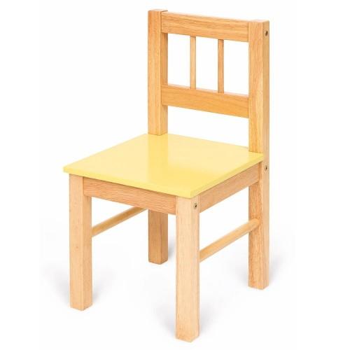Bigjigs dětská dřevěná židle - žlutá