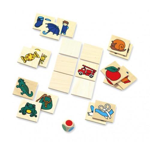 Dřevěné hračky - dřevěné hry - Pexeso s kostkou