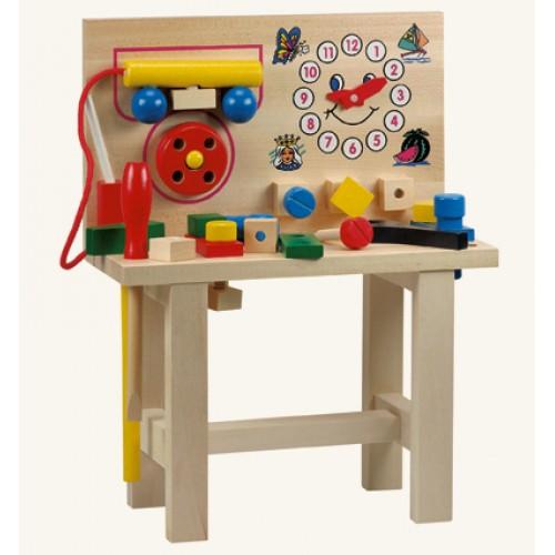 Dřevěné hračky - Hračky pro kluky -Pracovní ponk s telefonem