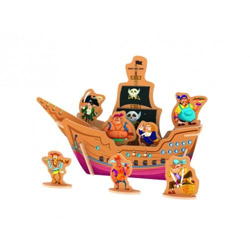Dřevěné skládačky 3D puzzle - Piráti