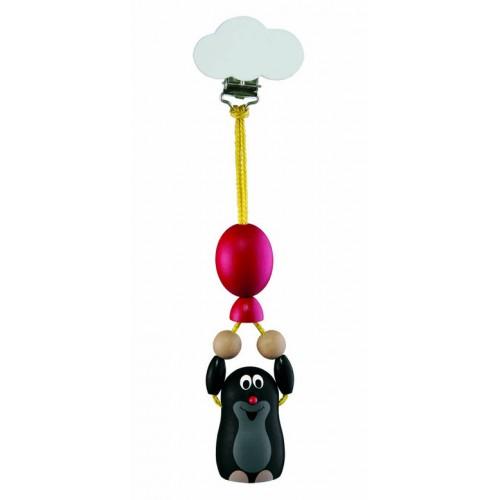 Dřevěné hračky - Závěs na kočárek Krtek s balónkem