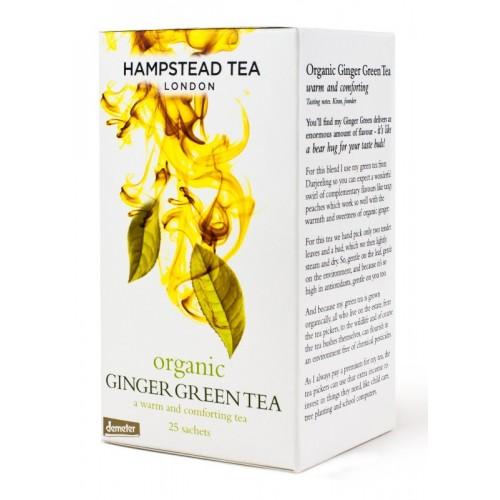 BIO zelený čaj se zázvorem 25ks