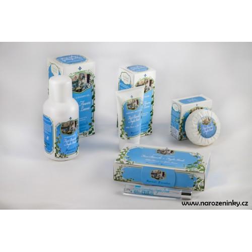 Derbe kosmetika - dárková krabička Bílé květy a Zelené lístky - koupelová sada