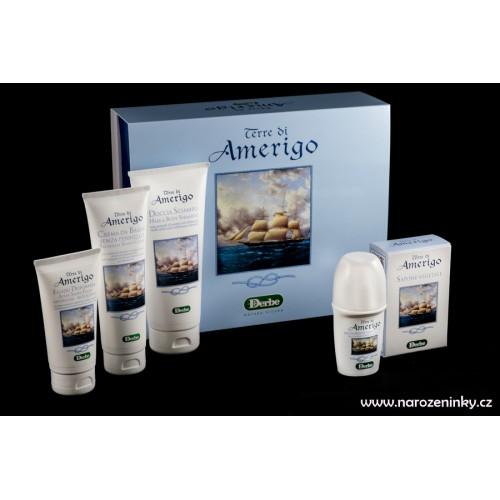 Derbe kosmetika - Terre di Amerigo - kosmetická dárková sada pro muže na holení a koupel