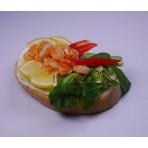 Chlebíček krevetový na pomazánkovém másle