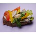 Chlebíček FIT zelenina a vejce