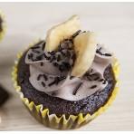 Veganský cupcakes dortíček banán a čokoláda
