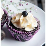 Veganský cupcakes dortíček černý rybíz a citron