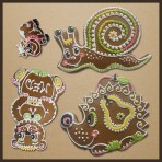 Perníková sada - medvěd, ježek, kravička, šnek