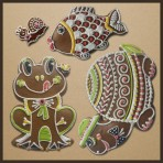 Perníková sada - žába, šnek, kapr, želva