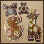 Perníková sada - žirafa, motýl, slon, medvěd