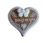 Perníkové srdce svatební velké