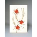 Vánoční přání - hvězdy na bílé obálce