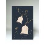 Vánoční přání - zvonky bílé