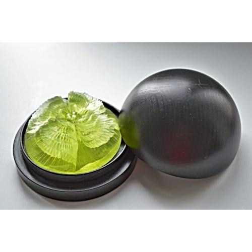 Vyřezávané mýdlo - Begonie - meduňka - průhledné