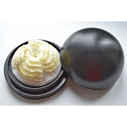Vyřezávané mýdlo - Begonie vlnitá - pozlacené