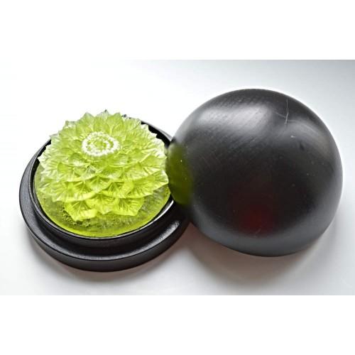 Vyřezávané mýdlo - Ibišek - meduňka - průhledné