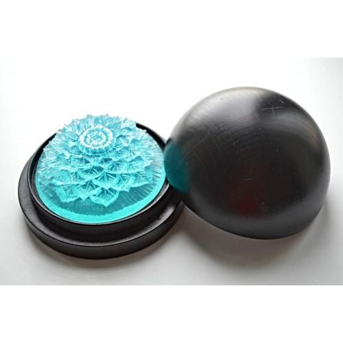 Vyřezávané mýdlo - Ibišek - oceán - průhledné