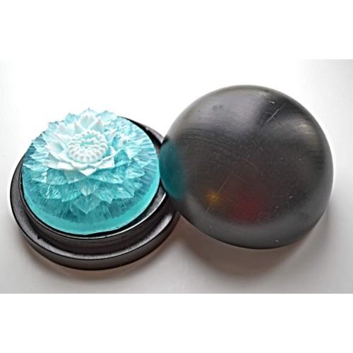 Vyřezávané mýdlo - Jiřina - oceán - dvoubarevné