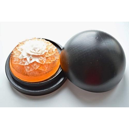 Vyřezávané mýdlo - Karafiát d. - broskev - dvoubarevné