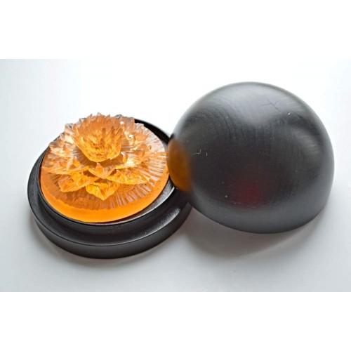 Vyřezávané mýdlo - Karafiát d. - broskev - průhledné