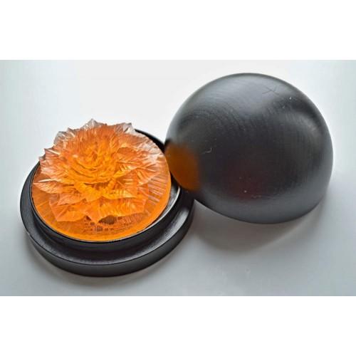 Vyřezávané mýdlo - Karafiát kv. - broskev - průhledné